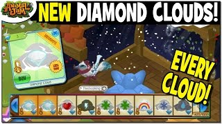 NEW DIAMOND CLOUDS! + EVERY WEATHER CLOUD IN A DEN ON ANIMAL JAM