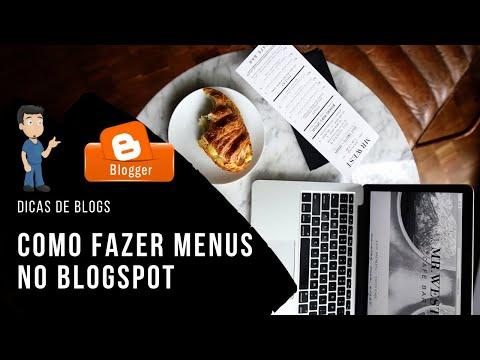 Como criar menus e inserir postagens no Blogger
