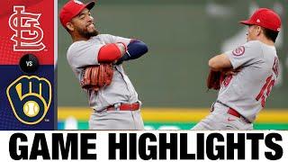 Cardinals vs. Brewers Game Highlights (9/23/21) | MLB Highlights