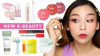 Full Face of New Korean Beauty Products | TINA TRIES IT
