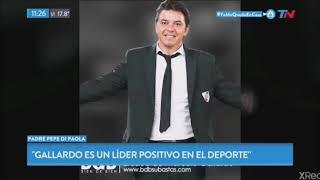 Entrevista en TN al Padre Pepe , Sobre la Donación de Marcelo Gallardo