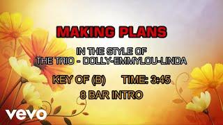 Dolly Parton, Emmylou Harris & Linda Ronstadt - Making Plans (Karaoke)