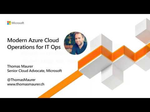 Modern Azure Cloud Operations for IT Ops