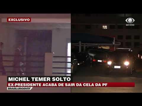 Michel Temer é solto pela Justiça