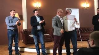 Вручение сертификата тренера НЛП