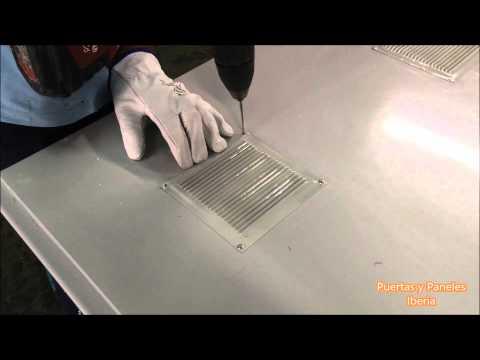 Cómo instalar rejillas de ventilación en puertas multiusos.