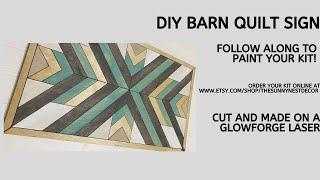 DIY Barn Quilt Sign Kit Tutorial