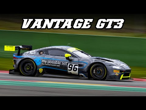 2019 Aston Martin Vantage GT3 - Blow-off valve and backfire sounds