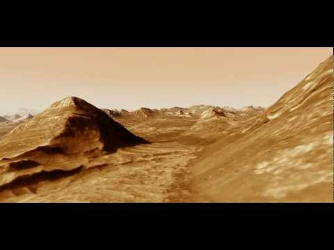 Candor Chasma animation using HiRISE Digital Terrain Model