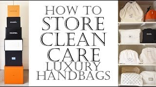 How To Store, Clean, Care & Protect Luxury Handbags Inc Chanel Bags   Conditioner For Leather Bags