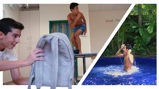 From School To Pool in 7 Seconds (Escape School Easy!)