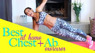 Best At Home Chest and Ab Exercises | Natalie Jill by Natalie Jill Fitness