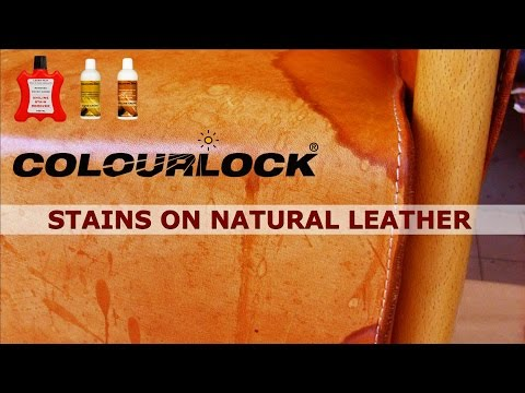 Video How to remove stains on natural leather - www.colourlock.com