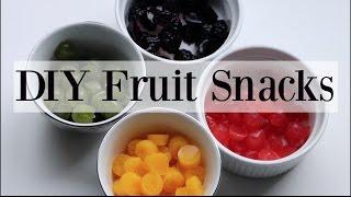 DIY Homemade Natural Fruit Snacks / Gummies - 4 Recipes ♡ NaturallyThriftyMom