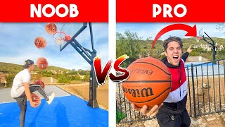 NOOB vs PRO Basketball TRICKSHOT Battle!