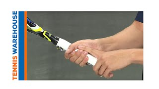 e435ee9e8 How to change an overgrip; How to measure your tennis grip size video link