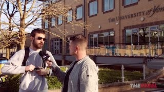 Tommy Robinson confronts students after cancelled speech
