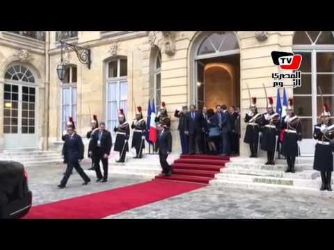 السيسي يغادر مقر رئاسة الوزراء بفرنسا