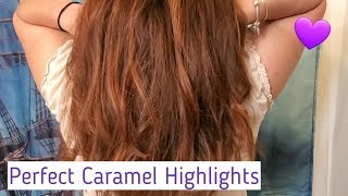 How To Caramel Highlights! Hair Tutorial