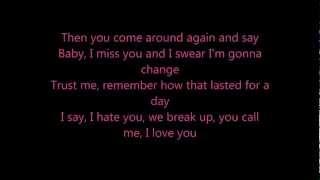 Taylor Swift - We Are Never Ever Getting Back Together lyrics