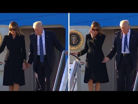 People can't stop talking about the weird body language between Donald and Melania Trump