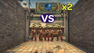 2 ГЛОБАЛА VS 5 КАЛАШЕЙ CS:GO