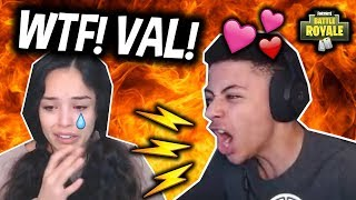 MYTH YELLS AT VALKYRAE! Then FLIRTS with her? (Girlfriend?) Fortnite Funny & Savage Moments!