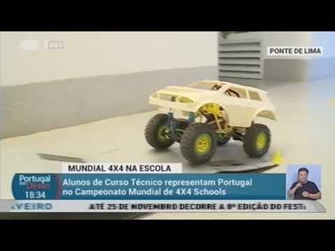 Escola Secundária de Ponte de Lima no Campeonato do Mundo 4X4 na Escola