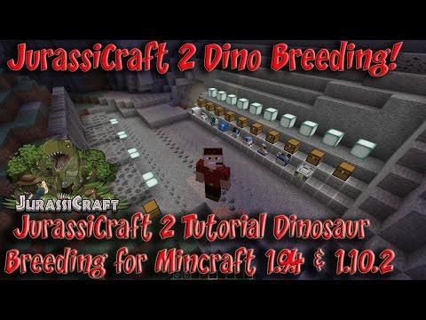 JurassiCraft 2 Mod 1.10.2 1.12.2 Tutorial Dinosaur Creation from Fossil to Dinosaurs