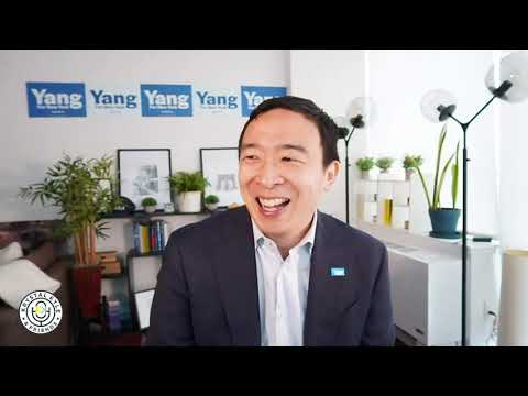 Andrew Yang Challenged On BDS + Discusses MSM Bias Against Him!