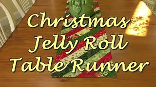 Christmas Jelly Roll Table Runner | The Sewing Room Channel