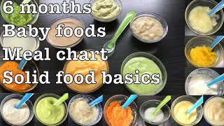 Baby Food Recipes For 6 Months | Fruit and Vegetable Purees | Porridges | Stage 1 Homemade BabyFood