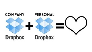 How to Pair Company Dropbox Account with Personal Dropbox Account