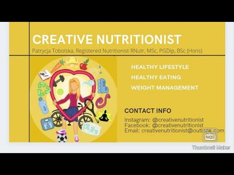 Creative Nutritionist - my areas of expertise