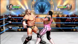 All Stars: Triple H vs Bret Hart - GRAPPLER FULL MATCH