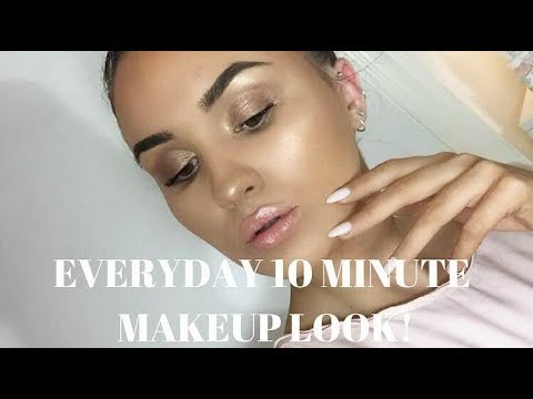 10 MINUTE EASY GOLDEN GLOW MAKEUP | Abigail Tamsin