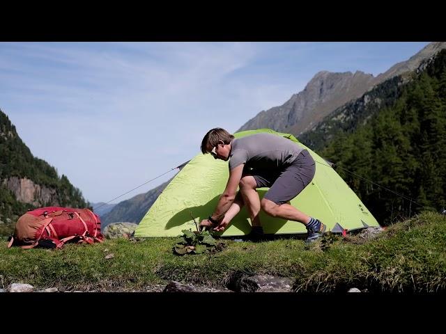 Видео Палатка четырехместная Hannah Spruce 4 зеленая