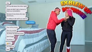 Ex Blowing Up My Phone Prank On Girlfriend *Gone Way Too Far*