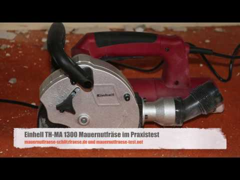 Einhell TH-MA 1300 Mauernutfräse im Praxistest   Mauernutfraese-Schlitzfraese.de