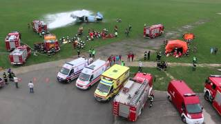 Krosno: Ćwiczenia straży pożarnej na lotnisku