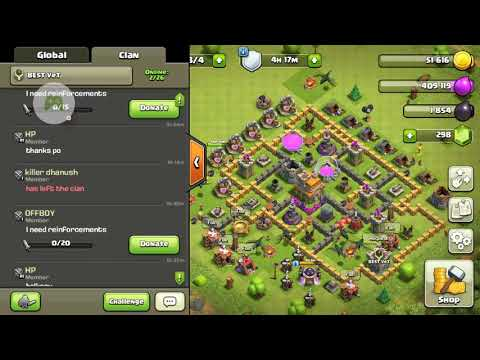 Clash of clans try why u try me lose :( some me won