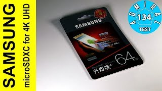 Тест карты памяти Samsung µSD UHS 1 U3 64GB для 4K UHD