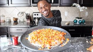 I Try Making CANDY CORN Pizza (Taste Test) | Alonzo Lerone