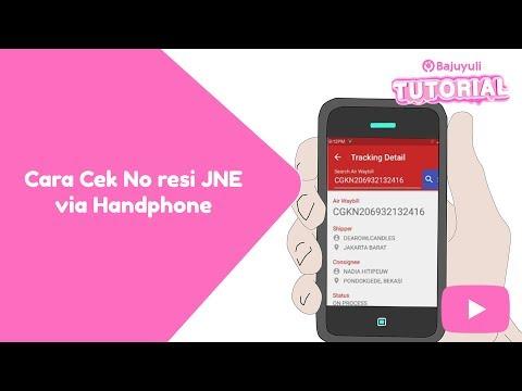Cara Cek No resi JNE melalui Handphone #BYtutorial