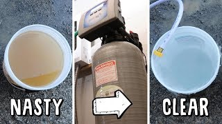 ITS FREAKIN MAGIC! (Installing Water Softener for Well Water)