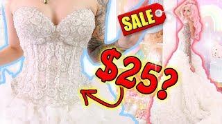 DID I JUST FIND MY WEDDING DRESS ON CRAIGSLIST!?? | Thrifted Wedding Dress Try-On Haul