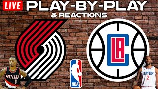 Portland Trail Blazers vs Los Angeles Clippers    Live Play-By-Play & Reactions