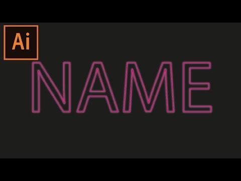 Download Neon Text Effect Illustrator Tutorial Video 3GP Mp4 FLV HD
