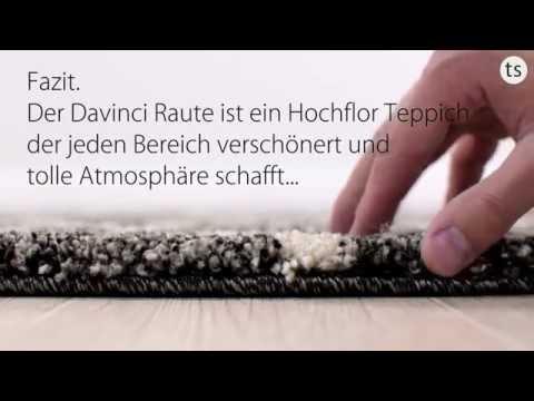 Schöner Wohnen Davinci Raute Hochflorteppich im Wunschmaß 6410