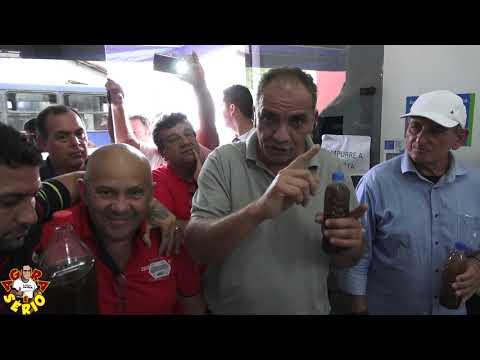 Prefeito Ayres Scorsatto e Vereador Abel em apoio a Manifestação dos Moradores do Barnabés contra a água da Sabesp